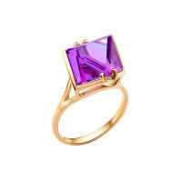 Золотое кольцо с ситаллами аметистами НА1.10.10.0032.00-2077