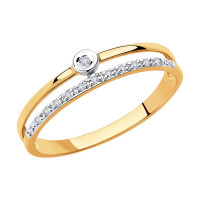 Золотое кольцо с бриллиантами ДИ1011864