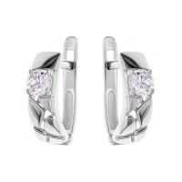 Серебряные серьги с фианитами РОС-3487-Р