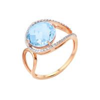 Золотое кольцо с топазами и фианитами НА1.10.10.0193.06-1317