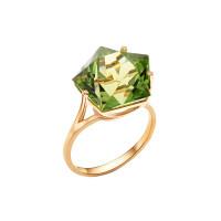 Золотое кольцо с ситаллами султанитами