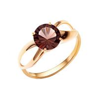 Золотое кольцо с раухтопазами НА1.10.10.0550.08-1953