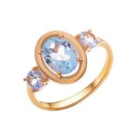Золотое кольцо с топазами НА1.10.10.0156.00-3330