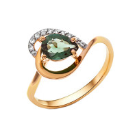 Золотое кольцо с ситаллами турмалинами и фианитами НА1.10.11.0795.00-2205
