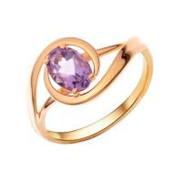Золотое кольцо с аметистами НА1.10.10.0031.00-2203