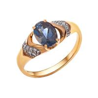 Золотое кольцо с топазами и фианитами НА1.10.11.0439.00-2291