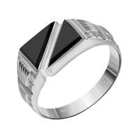 Серебряная печатка с фианитами 1УПЧ139С