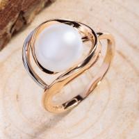Золотое кольцо с жемчугом ПЭ1901568Р