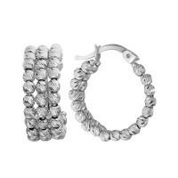 Серебряные серьги конго ВПС390