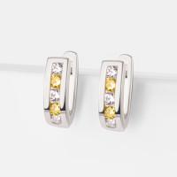 Серебряные серьги детские с фианитами 2ИС121158