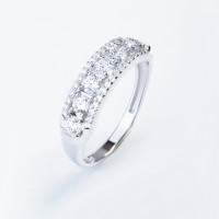 Серебряное кольцо с сваровски и фианитами ЮП1010015202