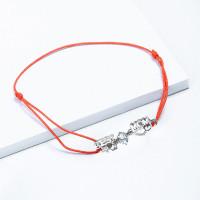 Серебряный браслет красная нить с фианитами ЮП1410014712