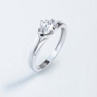 Серебряное кольцо с сваровски ЮП1010017168