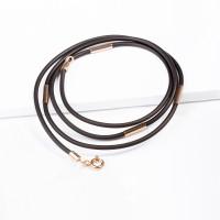 Каучуковый шнурок с золотой вставкой НР6030В-4