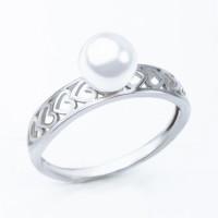 Серебряное кольцо с жемчугом ЮХЖК05жб