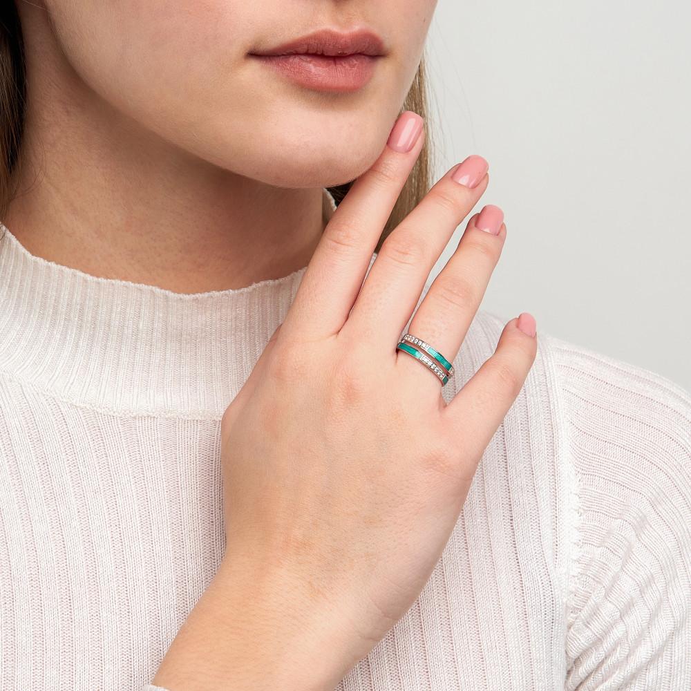 Серебряное кольцо с фианитами ДИ94013138