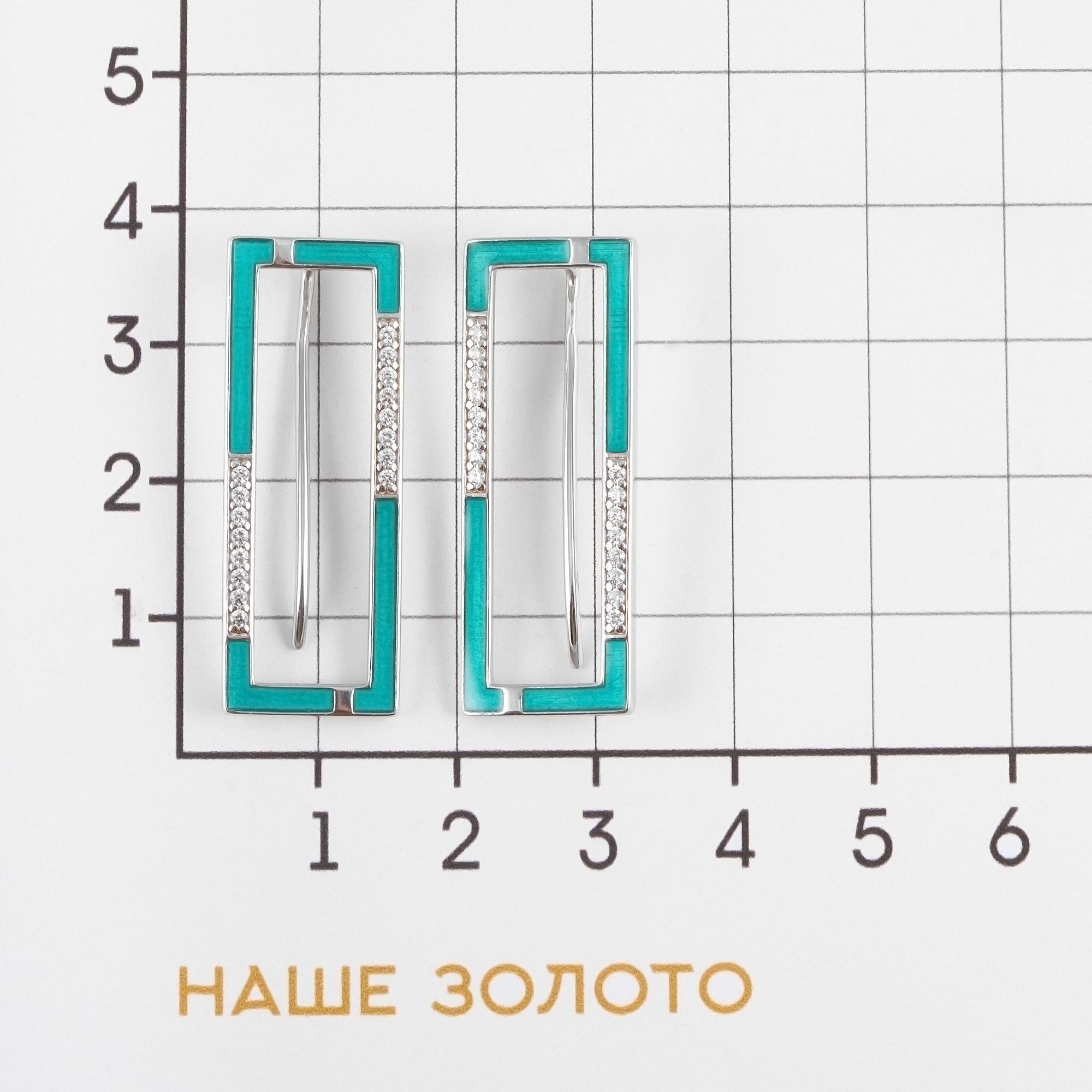 Серебряные серьги с фианитами ДИ94024061