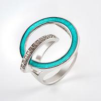 Серебряное кольцо с фианитами ДИ94013139