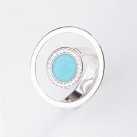 Серебряное кольцо с фианитами ДИ94013143
