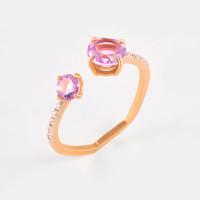 Золотое кольцо с аметистами и фианитами ЛБ1007808