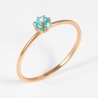 Золотое кольцо с топазами НЮ102000193546тс