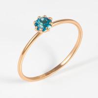 Золотое кольцо с топазами НЮ102000193546тл