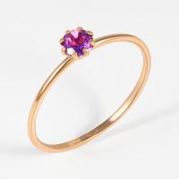 Золотое кольцо с аметистами НЮ102000193546ам