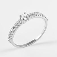 Серебряное кольцо с фианитами ЯВ82940С