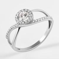 Серебряное кольцо с фианитами ЯВ821143С