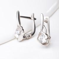 Серебряные серьги с фианитами ЯВ831289С