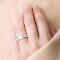 Серебряное кольцо с фианитами ЮП1010017592