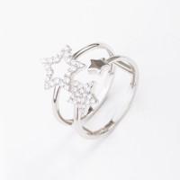 Серебряное кольцо с фианитами КЩ1901013748