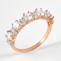 Золотое кольцо с фианитами 2БКЗ5К.1-01-0358-01
