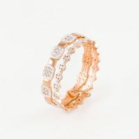 Золотое кольцо с фианитами СН01-115021