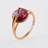 Золотое кольцо с кварцем и фианитами НЮ10202012010кврл