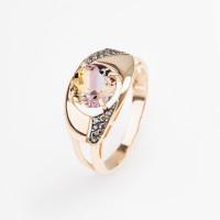 Золотое кольцо с аметринами и фианитами