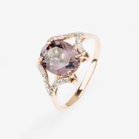 Золотое кольцо с александритами и фианитами 2БКЗ5К.1-15.03-0503