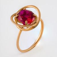 Золотое кольцо с корундами 2БКЗ5К-18-0502К-04