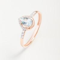 Золотое кольцо с топазом и фианитами ЮПК13412567тг