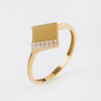 Золотое кольцо с фианитами МЦФТК0619-Р