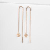 Золотые серьги протяжки с фианитами ТБ1502000125046