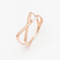 Золотое кольцо с фианитами РЫ1783041