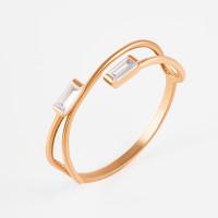 Золотое кольцо с фианитами РЫ1783241