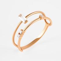 Золотое кольцо с фианитами РЫ1783341