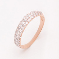 Золотое кольцо с фианитами РЫ1783741
