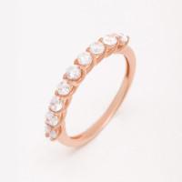 Золотое кольцо с фианитами РЫ1783941