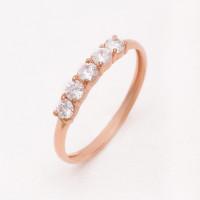 Золотое кольцо с фианитами РЫ1784241