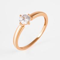 Золотое кольцо с фианитами РЫ1784441