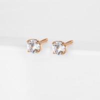 Золотые серьги гвоздики с фианитами РЫ2784541-1