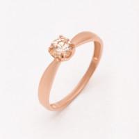 Золотое кольцо с фианитами РЫ1784541